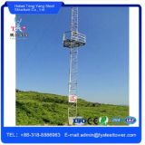 3 pernas sólidas de aço redondas Comunicação Guyed Tower
