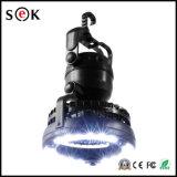 Alimentada a energia solar 6 SMD LED Recarregável Extensível Camping Lantern com ventilador de refrigeração