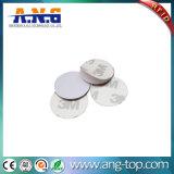 Forma de moneda dura resistente al agua etiquetas RFID 125kHz.
