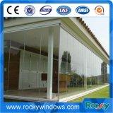Grande porte en verre d'oscillation de Frameless de deux panneaux