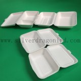 Le blanc biodégradable emportent le cadre de déjeuner de papier remplaçable avec 2comp