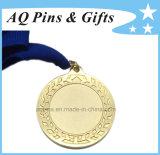 Латунное медаль с плакировкой золота