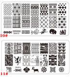 2016 Hete het Stempelen van de Kunst van de Spijker van het Roestvrij staal van de Verkoop Stencils