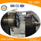 Torno de giro do CNC Wrc28 para a máquina de estaca do diamante do reparo da roda da liga do carro