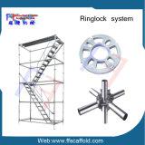 A maioria de Rosette de aço do andaime de Ringlock da segurança e da construção resistente