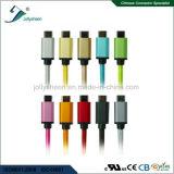 금 Matel 헤드와 이중 다채로운 끈목 고속 Transmsion 및 비용을 부과를 가진 USB 케이블