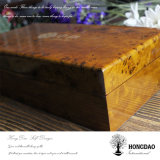 Caja de madera de Hongdao, caja de té por encargo con el logotipo grabado