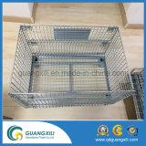 Conteneur pliable de treillis métallique d'entrepôt empilable pour la cage japonaise