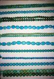 Pedra semipreciosa Azul Azul turquesa Cristal Loose Bead