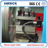 移動式CNCの合金の車輪のダイヤモンドの切断の旋盤およびタイヤの磨く機械Awr28h