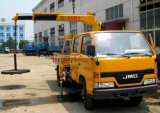 Jmcはクレーンによって2 T望遠鏡クレーン4*2二重タクシーのトラック取付けた
