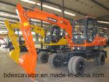 Excavador de la rueda de la maquinaria de Baoding pequeño con precio competitivo