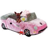 Suave felpa Cartoon coche cama Pet