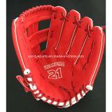 Перчатка бейсбола PVC хорошего качества изготовления кожаный