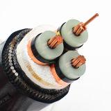 Cabo distribuidor de corrente subterrâneo de Cu/XLPE/Swa/PVC, cabo distribuidor de corrente de cobre blindado de fio de aço