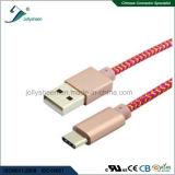 USB Charing en de Kabel van transmissieGegevens met Hoofd en Roze Vlecht Matel