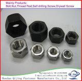Noix Hex de plein zinc des noix ISO4032 Uni5587 GB52 GB6170 GB6172 de l'hexagone DIN934/936