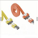 Cabo de dados cobrando do USB do macarronete para iPhone4s
