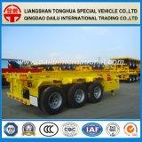3 Aanhangwagen van de Vrachtwagen Semitrialer van het Staal van de as 30FT de Skeletachtige