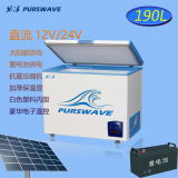 Батарея степени замораживателя -25 комода DC 12V/24V/48V Purswave Vdfr-190 190L солнечная - приведенный в действие замораживатель мороженого холодильника подвижной