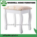 Tamborete acolchoado da madeira contínua coxim branco para a tabela de limpeza (W-LZ-S508)