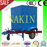 6000L/H tipo móvil máquina de filtración del petróleo dieléctrico del transformador