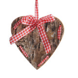 주식에 있는 소형 나무 별 심혼 디자인을%s 가진 나무로 되는 크리스마스 장신구