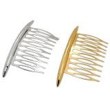 은 또는 금에 의하여 도금되는 금속 결혼식 신부 클립 머리 빗 부속품