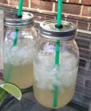 Bottiglia di vetro del vaso di vetro dell'alimento di Preseving del vaso di muratore del miele dell'ostruzione
