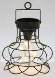 Lampadina rotonda decorativa antica della lanterna W/LED del metallo