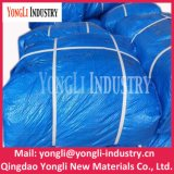 PE tissé ou bâche de protection bleue de tissu, bâche de protection de PE de la Chine de roulis de bâche de protection de PE