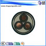 Isolation en polyéthylène réticulé 8.7Kv Multi-Cores gainé PVC acier mince fil câble d'alimentation blindés