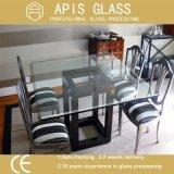 Bancada de vidro temperado 8 mm para a mesa de jantar com a marcação CE e o certificado SGCC