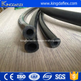 Boyau en caoutchouc hydraulique industriel renforcé lisse flexible de pétrole de fil d'acier de couverture de SAE100r1at