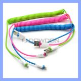 Matt Color Coiled USB Lightning Charge Cable für iPhone 6/6plus/5/5s Spring Design Charging Cable