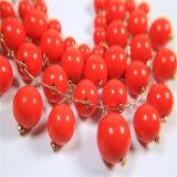 De nieuwe Vastgestelde Halsband van de Juwelen van de Manier van de Parels van het Ontwerp Rode Acryl