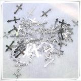 Katholisches eindeutiges Jesus-Metallzusätzlicher Cucifix Anhänger (IO-ap222)