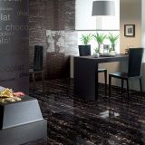 Schwarzes und Goldmarmoreffekt 180 x 90 cm Polierporzellan-Fliese für Innenraum, außen für Projekt, Fußboden-Fliese