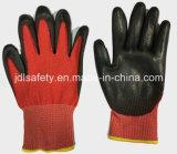 Красный цвет Анти--Отрезал перчатку работы с PU (ND8060)