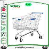 TPR ruedas de plástico revestimiento supermercado Carro de compras