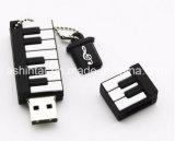 USB Pendrive dos desenhos animados da vara da memória do USB do piano do silicone