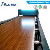 Finition en bois de 3mm du panneau composite en aluminium finition bois Panneau ACP