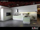 Diseño moderno blanco de la cabina de cocina de la laca de la alta calidad 2017