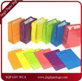 Grande ou Pequeno Brilhante De Néon Colorido Presente Presente Saco De Presente De Papel, Glossy Lamination Paper Bag,