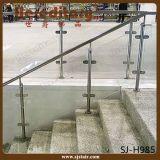 De Post van het Traliewerk van de Trede van het Glas van de Leuning van het roestvrij staal (sj-S103)