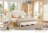 Mobília do quarto estilo couro europeu com cômoda (6006)