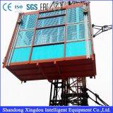 O elevador dobro da construção da gaiola Scd200/200 com Ce aprovou