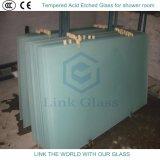 etste het 10mm Aangemaakte Zuur Berijpt Glas voor de Zaal van de Douche