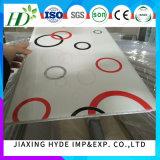 Painel de parede de decoração de painel de teto de PVC de 8 * 250mm 2.8 Kgs (impressão normal, estampagem a quente, laminação, ISO9001)