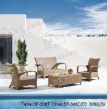 Jogos ao ar livre do sofá, mobília do Rattan do pátio, jogos do sofá do jardim (SF-308)